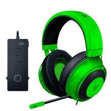 Razer Kraken טורניר משחקי מהדורת אוזניות 3.5mm שקע עובד עם מחשב, PS4, Xbox אחד, מתג, מכשירים ניידים גיימר אוזניות