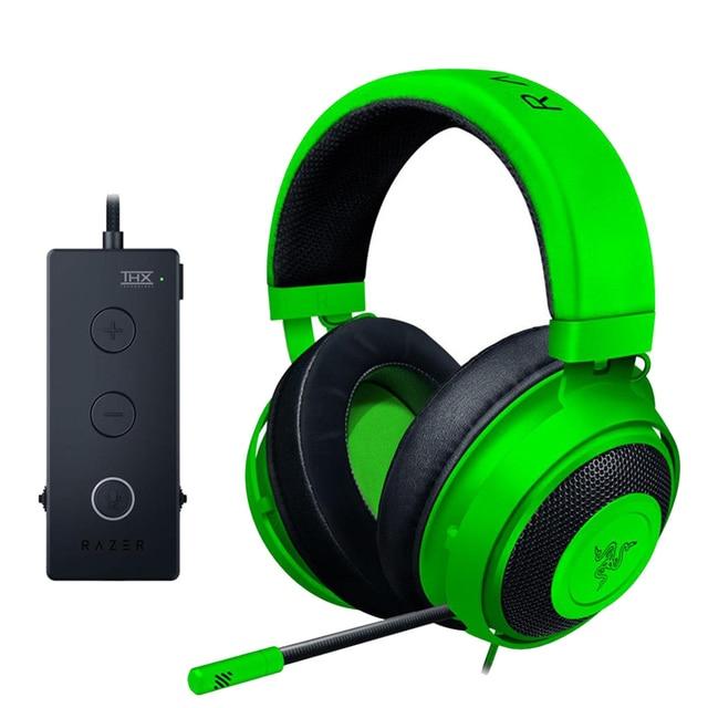 Razer Kraken Tournament Edition หูฟังแจ็ค 3.5 มม.ทำงานร่วมกับ PC, PS4, Xbox One,สวิตช์,โทรศัพท์มือถือ Gamer ชุดหูฟัง