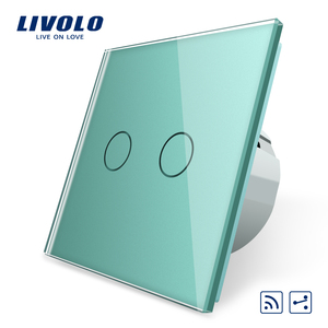 Image 5 - Livolo EU Standard Wall Light Touch Switch,Wall home switch,Crystal Glass Switch Panel, 220 250V,corss,dimmer,wireless,curtain