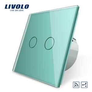 Image 5 - Livolo الاتحاد الأوروبي القياسية الجدار مفتاح الإضاءة التي تعمل باللمس ، الجدار الرئيسية التبديل ، الكريستال والزجاج لوحة التبديل ، 220 250 فولت ، كورس ، باهتة ، اللاسلكية ، الستار
