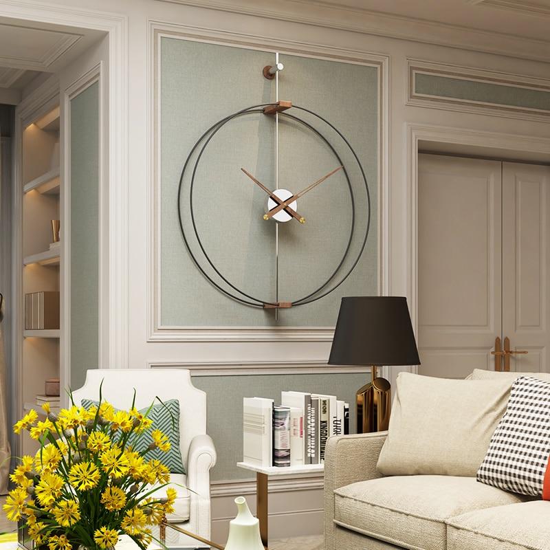 Большие настенные часы 69 см, современные дизайнерские часы для домашнего декора, офисные железные часы в европейском стиле, подвесные насте...