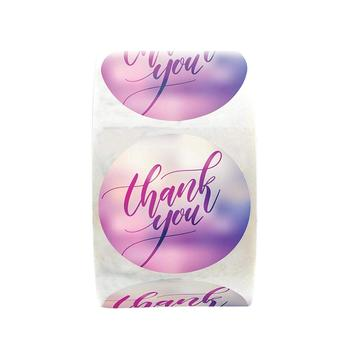 500 Pcs/roll Thank You Stickers Seal Labels with 1inch Round Labels  Sticker for Gift Packaging Scrapbooking Stationery Stickers kraft paper thank you for celebrating with us stickers seal labels 500 pcs for gift sticker scrapbooking stationery sticker