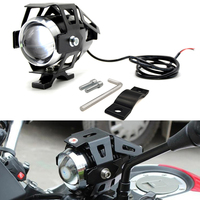 Para kawasaki ninja ex500 650r er6f er6n 250 300r 300 motocicleta led luz do farol auxiliar lâmpada u5 spotlight moto luz