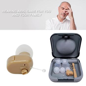 Regulacja głośności aparaty słuchowe wzmacniacz dźwięku aparaty słuchowe słuchawki mały rozmiar ucho wewnętrzne niewidoczny odbiornik dźwięku głośnik tanie i dobre opinie carevas Hearing Aids