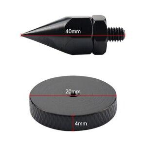 Image 5 - Ghxamp 4 Sets M6 * 40 Mm Speaker Stand Spikes Voet Pad Voor Subwoofer Boekenplank Speaker Suspension Versterker Cd speler carbon Staal