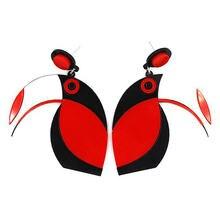 Массивные акриловые большие попугаи серьги капли в форме птицы