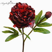 Artificial flowers bouquet versailles palace peony branch leaf peonies rose flores artificiales Home wedding decor Christmas