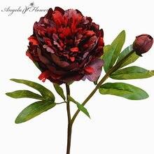 Künstliche blumen bouquet versailles palace pfingstrose zweig blatt pfingstrosen rose flores artificiales Hause hochzeit decor Weihnachten