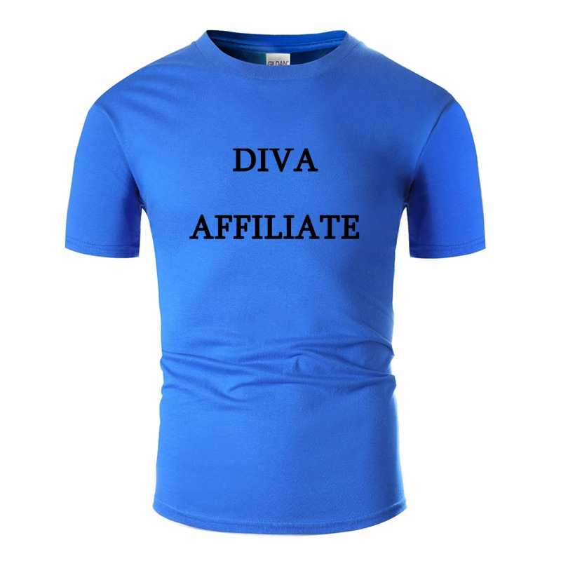 Sunlight Diva Affiliate Tshirt Men Letters Awesome Boy Girl T-Shirts Short-Sleeve Pop Top Tee