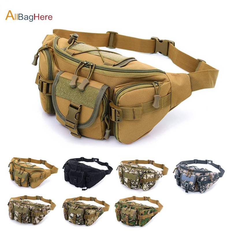 Hot Outdoor Sports Waterproof Tactical Waist Bag Utility Riding Pockets Phone Camera Bags Camouflage Cycling Running Hiking Bags