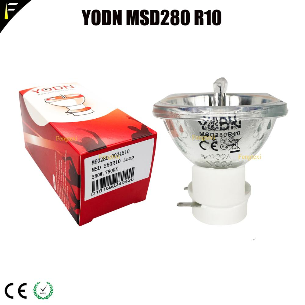 With CE Certificate Cold Color Beam Lamp YODN MSD280 R10/10R 280w Stage Lamp Bulb Moving Head Lighting Source Small Bulb 51x51mm