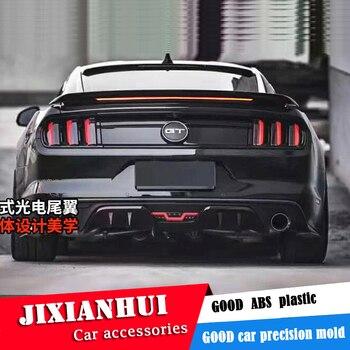 Спойлер для Mustang 2015-2018 Ford Mustang спойлер GT светодиодный светильник ABS пластик Материал заднее крыло автомобиля Цвет задний спойлер