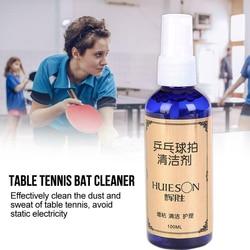 100ml środek czyszczący pył usuń skuteczne płynne odporne na pleśń profesjonalna niebieska pielęgnacja rakieta do tenisa stołowego konserwacja wiosła w Akcesoria i sprzęt do tenisa stołowego od Sport i rozrywka na