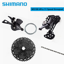 SHIMANO 2020 NEW DEORE M5100 M5120 11 Speed With Sunrace Cassette Groupset MTB Mountain Bike Contains Shifter Rear Dearilleur