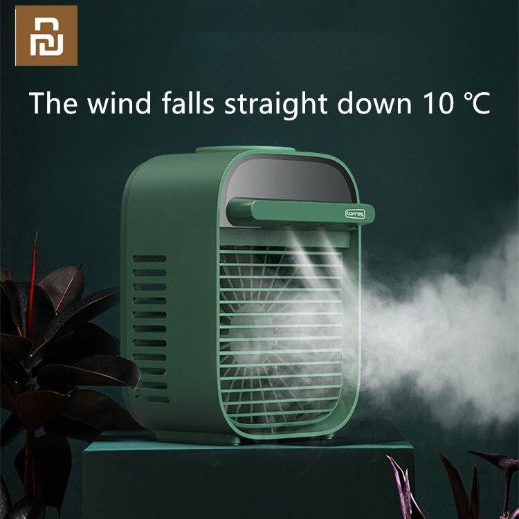 Xiaomi Портативный Кондиционер мини USB охладитель воздуха вентилятор Охлаждающий увлажнитель воздуха для офиса, дома, комнаты, кондиционер, вентилятор водяного охлаждения        АлиЭкспресс