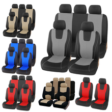Universal Red Car Seat Cover Polyester Fabric Protect Seat Covers