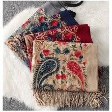 高級冬スカーフ sjaal 、刺繍ペイズリースカーフバンダナ、パシュミナカシミアショールからインド、岬ファム、 echarpe ファム