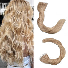 Toysww Piano Color 20pcs 40pcs 100% Real Human Hair Tape in Hair Extensions For Woman Machine Made Remy