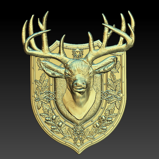 Deers 3D STL Models Pictures for CNC Router Cutting ArtCAM  Aspire Cut3d  Engraver Wooden decor gift Digital Product