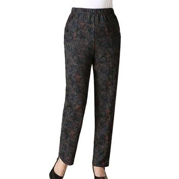 Winter Pants Women Plus Velvet High Waist Warm Printing Pants Spring Autumn Female Black Plus Size 5XL Trousers Pantalon Femme Pants & Capris