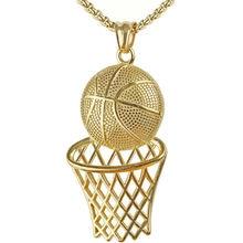 Moda hip-hop basquete futebol quadro de beisebol dos homens colar ouro prata cor pingente gargantilha de aço feminino jóias presentes