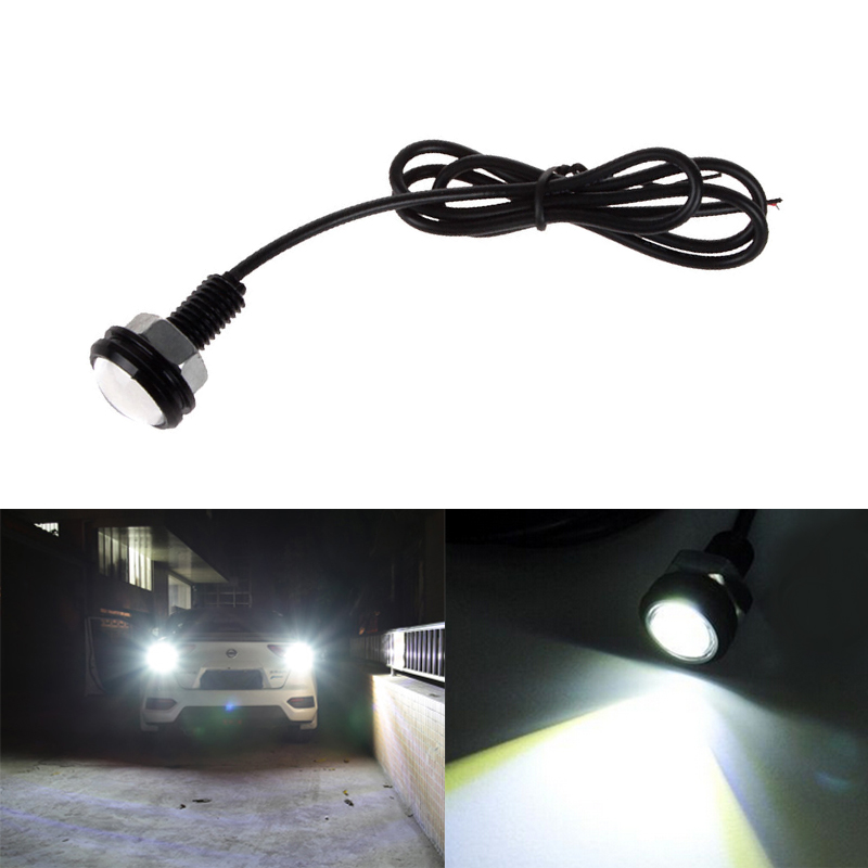 1Pcs 18MM Car Led Eagle Eye DRL Daytime Running Lights LED 12V Backup Reversing Parking Signal Automobiles Lamps DRL Car Styling