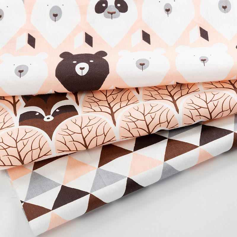 Tkanina bawełniana z nadrukiem w stylu vintage, w kwiaty tkaniny do szycia na lalki do własnoręcznego wykonania lub ręcznie robiony materiał dla dzieci 50*40cm TJ0202