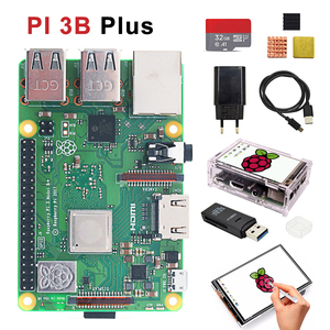 Raspberry pi 3b plus 3.5 inch screen basis kit with Protective Case 32G TF card and multi-card reader and heatsink EU power(China)