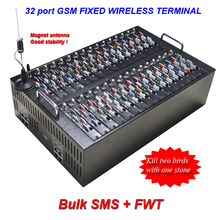 Multi 16 port 64 sims,32 port128 sim,GSM sms gateway modem pool for Bulk sms and Voip function voip gateway 32 port 128 sim fwt modem pool gsm fixed wireless terminal support at command