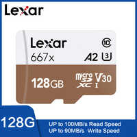 Lexar UHS-I 667x Micro SDXC 128 GB adaptador con Tarjeta Original 64 GB 256GB A2 U3 V30 Clase 10 1080 p HD 4 K 3D de vídeo