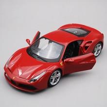 Bburago 1/24 1:24 Scale Ferrari 488 GTB Racing Sports Car Vehicle Diecast Display Alloy Collectible Model Children Boys Kids Toy 1 10 scale alloy diecast racing bike w basket