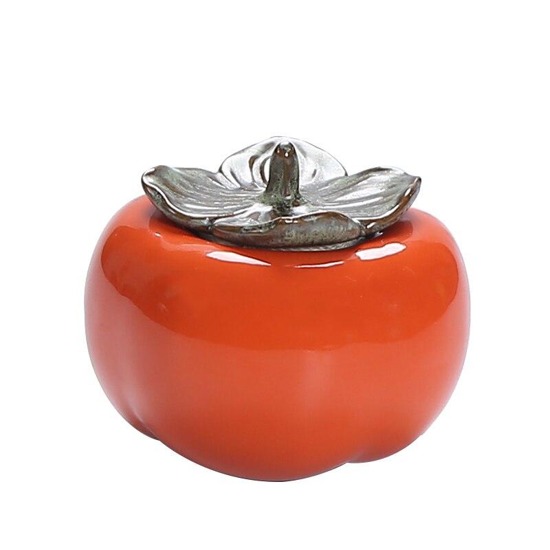 Китайские керамические контейнеры для чая компактный мини портативный «зеленый чай запечатанные банки резервуар для хранения путешествия чай коробка хранение чая - Цвет: Оранжевый