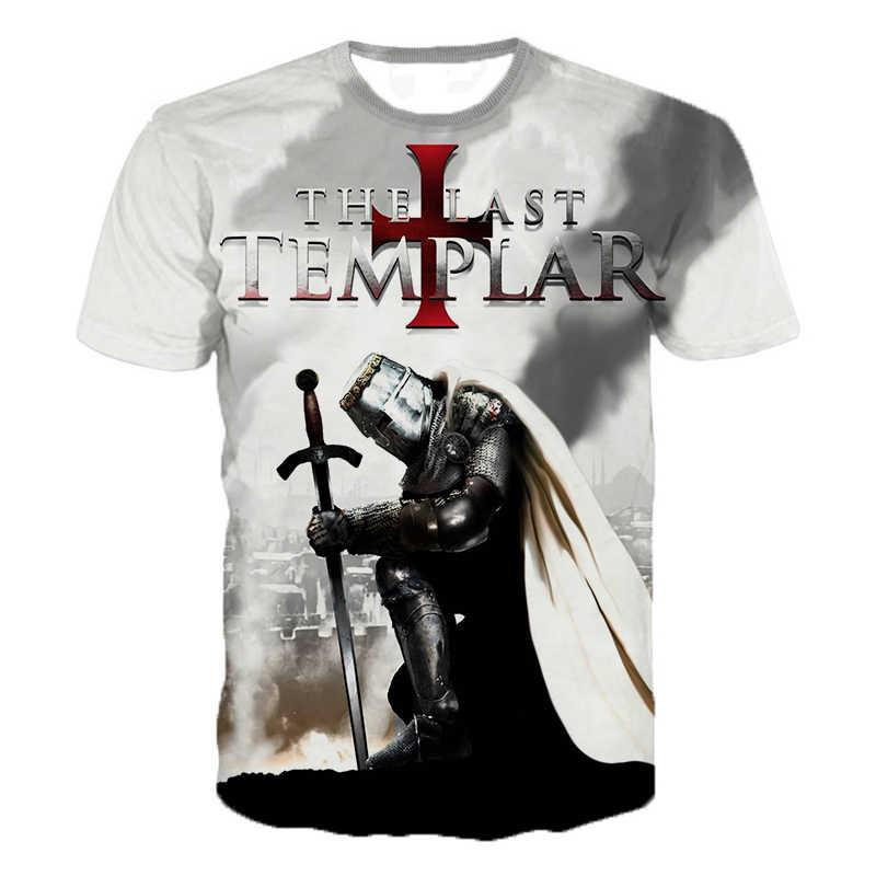 テンプル騎士団 3D プリント tシャツ騎士団ファッションカジュアル tシャツ男性女性ヒップホップ原宿ストリート tシャツ tシャツトップス