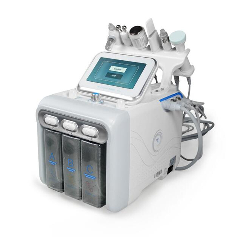 6 In 1 Spa Use Water Jet Beauty Aqua Facial Dermabrasion Peel Machine Needle Free Mesotherapy Device