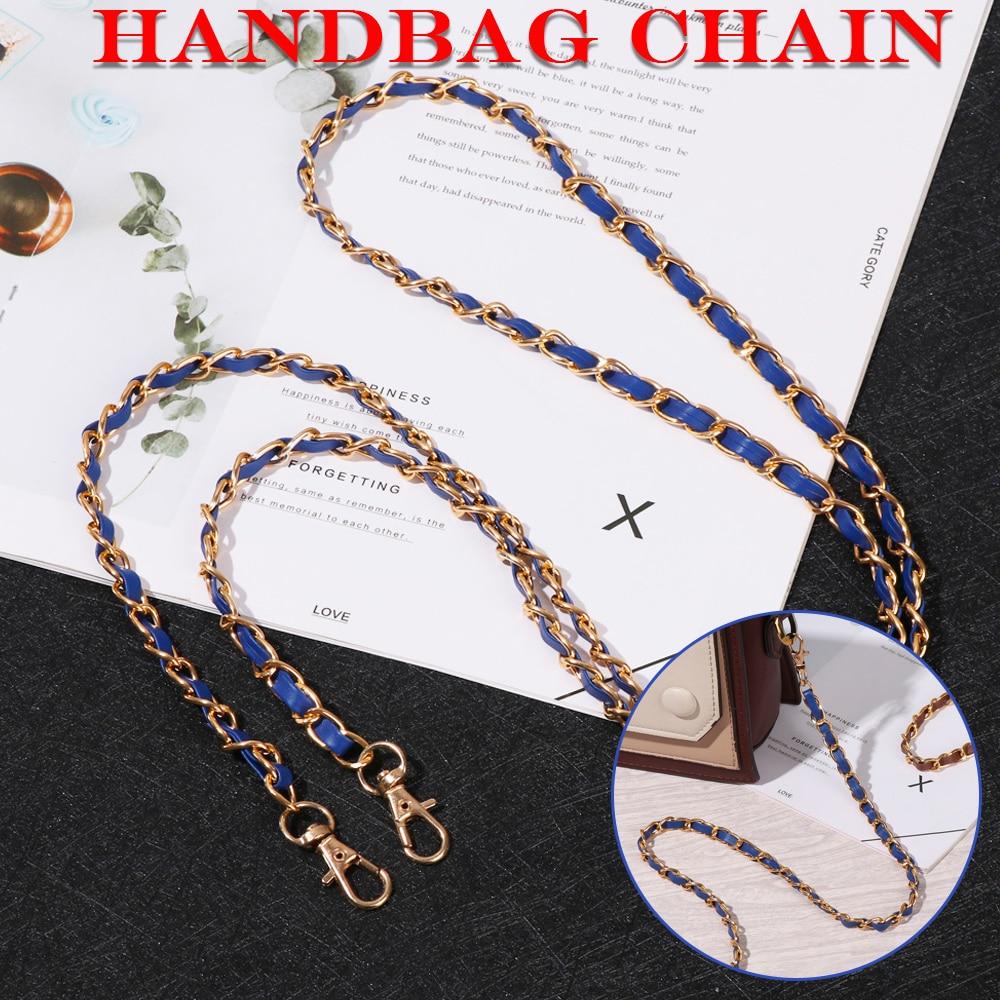 1.2m Adjustable Handbag Chain Metal PU Leather Fashion Shoulder Bag aiguillette Strap Replacement for Purse Handbag Gift
