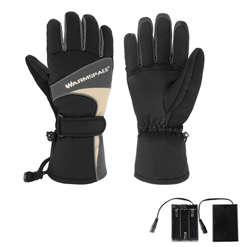 1 Pair Winter Hand Warmer Electric Thermal Gloves Waterproof Heated Gloves Battery Powered For Outdoor Motorcycle Skiing