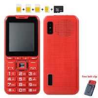 Mafam Telefono Mobile di Musica Grande Altoparlante Suono Quad 4 Sim 4 Standby Magic Voice Changer Accumulatori E Caricabatterie di Riserva 2.4 Display Dual Torcia Elettrica
