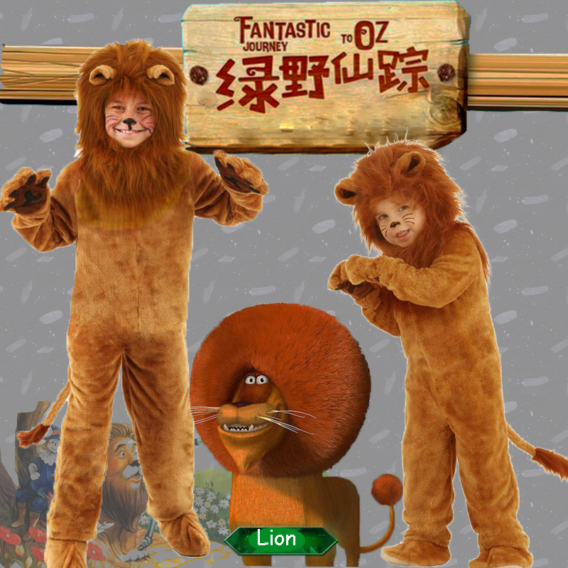 Child Deluxe Lion King Costume Baby Kids Animal Carnival Halloween Cosplay Costumes Fancy Wizard Of Oz Movie Role Jumpsuits