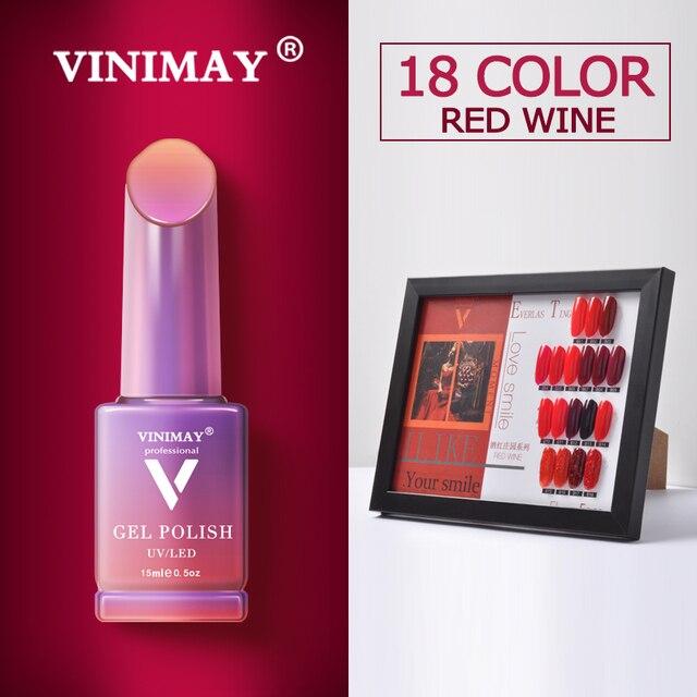 VINIMAY offre spéciale Gel rouge vernis à ongles vernis semi permanent UV tremper Gel vernis à ongles vernis manucure ongles Gel Lacque