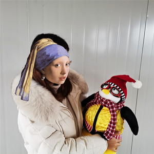 Image 2 - 55cm poważni przyjaciele Joeys Friend Hugsy pluszowy pingwin Rachel wypchana lalka zabawki dla dzieci dzieci urodziny prezent na boże narodzenie