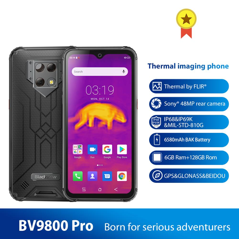 Blackview BV9800 Pro Waterproof Global First Thermal imaging smartphone 6GB+128GB MT6771 Octa Core 48MP Android 9.0 NFC 6580mAh image
