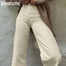 IAMSURE – jean ample taille haute pour femmes, pantalon Vintage décontracté, jambes larges, grande taille, Y2K