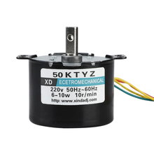 10rpm 10W Permanent Magnet Motor 50KTYZ AC220V Synchronous Metal Gear 38mm x 50mm D-Type Novel