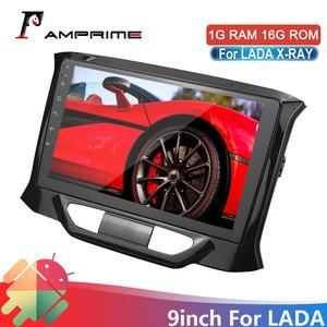 Image 1 - AMPrime 안 드 로이드 자동차 라디오 2din 2.5DScreen LADA X ray Xray 2015 2016 2017 2019 멀티미디어 비디오 플레이어 탐색 GPS WIFi FM