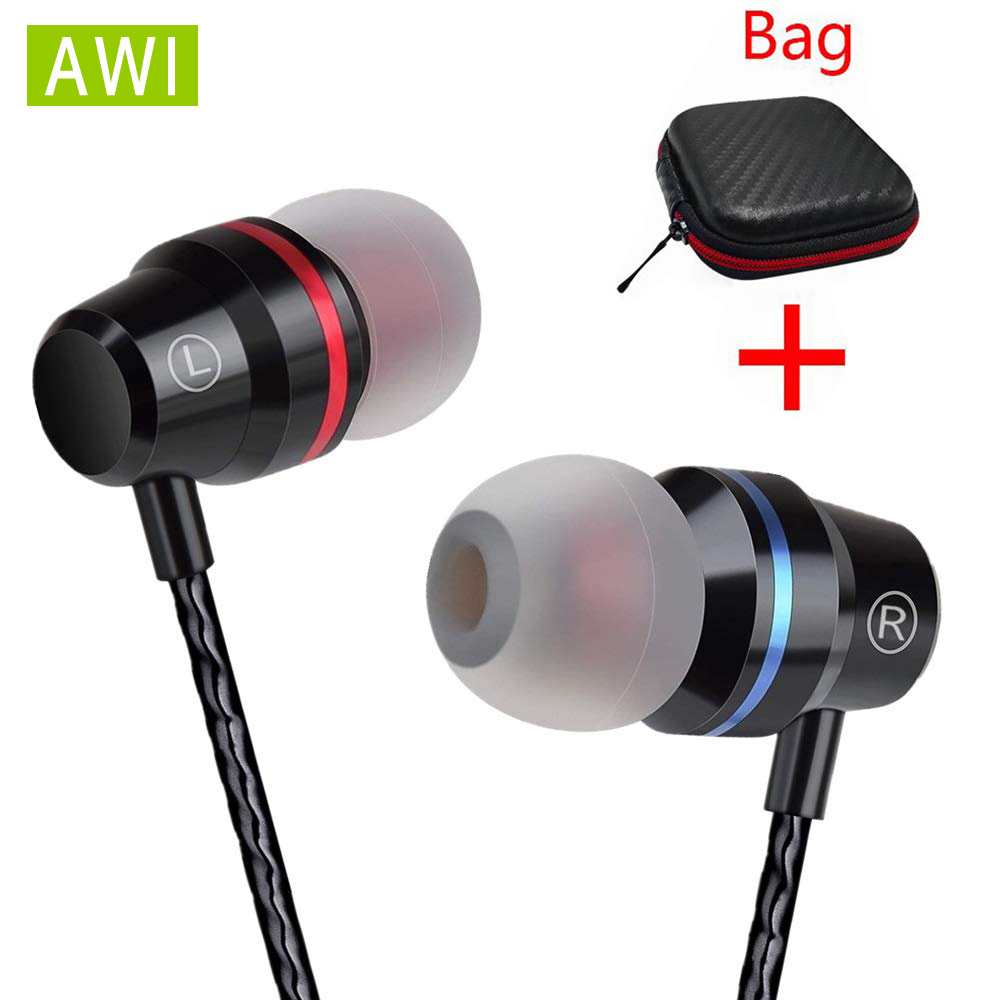 AWI M5 Super Bass Earphone Headphones With Mic 3.5mm Sport Gaming Headset For Phones Xiaomi Samsung IPhone Fone De Ouvido MP3