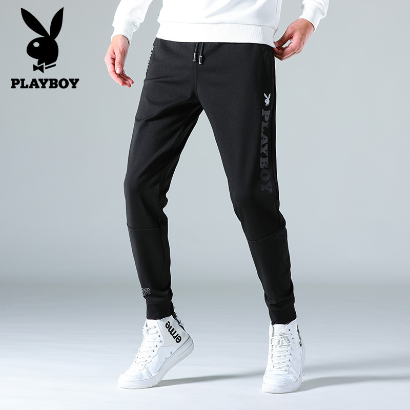 Shop PLAYBOY Athletic Pants Men's Casual Pants Men Loose Autumn Slim Fit Korean-style Slim Fit Pants Men's