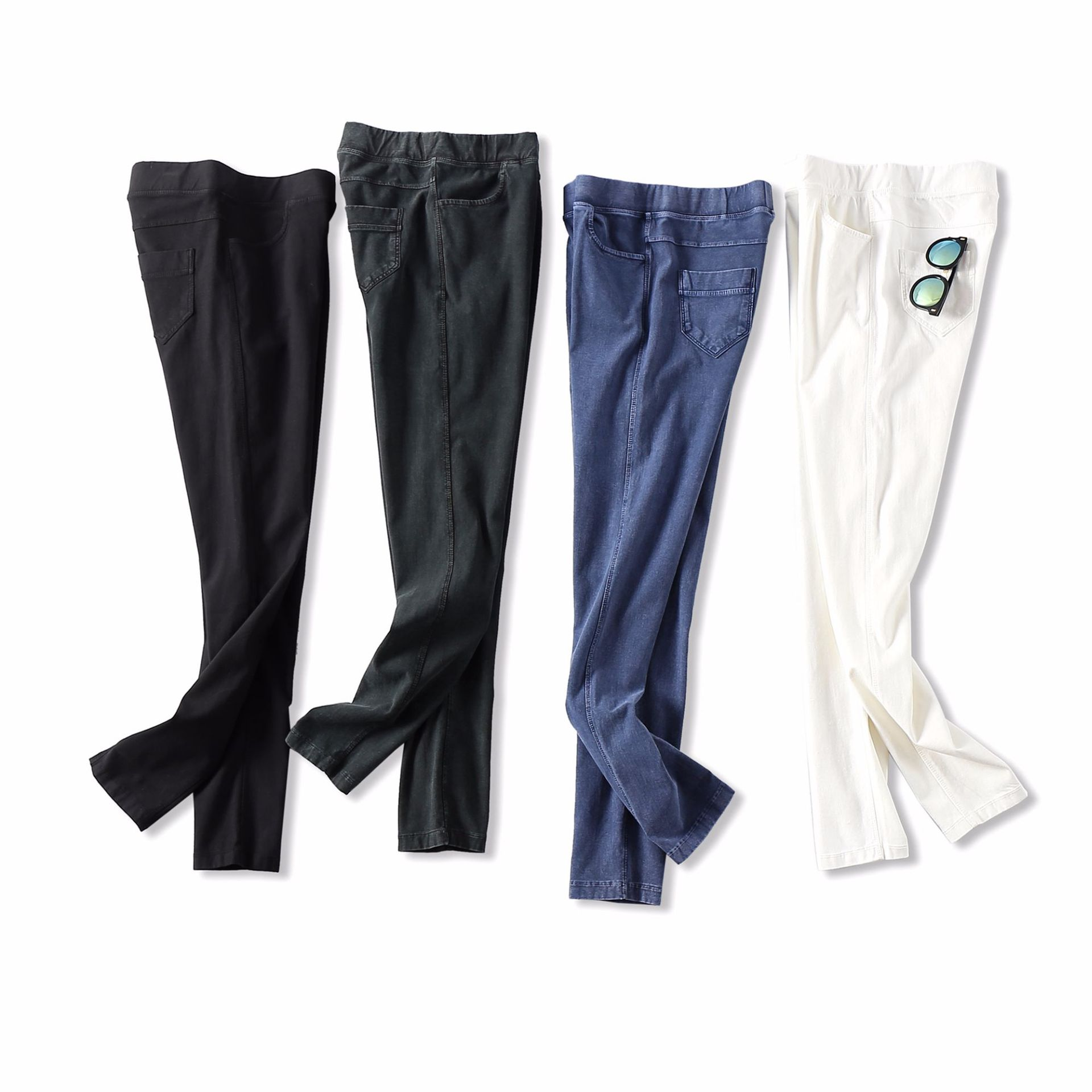 19 Early Spring New Products Hand Multi-Article! Soft And Comfortable Elastic Waist Elasticity Slim Fit Pants Pencil Jeans Women