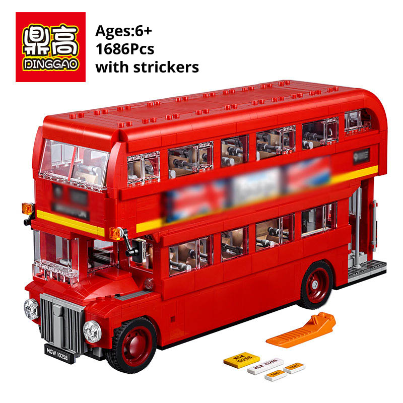 Toy London Bus 10258 set Building Block Bricks legoINGlys technic car Educational Toys for Children boy Birthday christmas Gifts-in Blocks from Toys & Hobbies    1