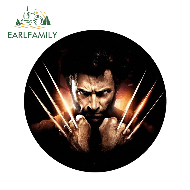 EARLFAMILY 13cm x 13cm 3D Car Stickers Wolverine Cool Car Styling Film Waterproof Body Bumper Decals Door Decoration Stickers
