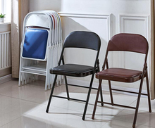 6pcs/lot Meeting room folding chairs simple home backrest chair training exhibition office chairs portable dining chairs